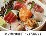 japanese sashimi raw fish  set | Shutterstock . vector #421730731