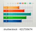 modern business steps to... | Shutterstock .eps vector #421733674