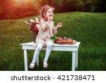 Little Baby Girl Eats Chocolat...