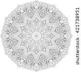 ray edge mandala tracery wheel... | Shutterstock . vector #421738951