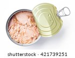 Canned Tuna Isolated On White   ...