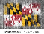 maryland concrete flag | Shutterstock . vector #421742401