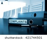 Stock photo complaints office binder on office desktop complaints illustration complaints business 421744501
