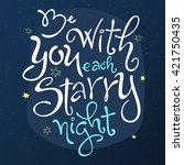 vector hand lettering love... | Shutterstock .eps vector #421750435