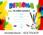 vector pattern children's... | Shutterstock .eps vector #421751419