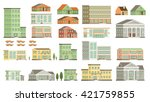 flat vector buildings. | Shutterstock .eps vector #421759855