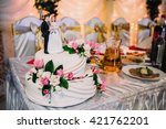 wedding cake | Shutterstock . vector #421762201