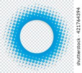 perforated halftone paper with... | Shutterstock .eps vector #421764394