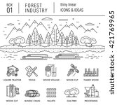the forest industry in the... | Shutterstock .eps vector #421769965