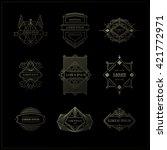set vintage frames. line style. ... | Shutterstock .eps vector #421772971