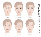 set of vector face shapes.... | Shutterstock .eps vector #421777567