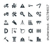 construction cool vector icons 3 | Shutterstock .eps vector #421784017