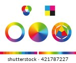 color wheels and color palette. ... | Shutterstock .eps vector #421787227