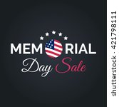 vector happy memorial day sale... | Shutterstock .eps vector #421798111