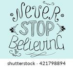 biblical background  never stop ... | Shutterstock .eps vector #421798894