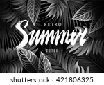 summer background with tropical ... | Shutterstock .eps vector #421806325