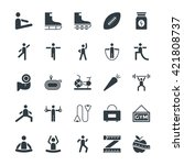 fitness cool vector icons 3 | Shutterstock .eps vector #421808737