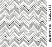 seamless triangle pattern.... | Shutterstock .eps vector #421812685