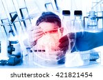scientist with equipment and... | Shutterstock . vector #421821454