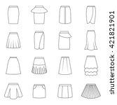 set of skirts  vector... | Shutterstock .eps vector #421821901