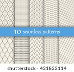 set of ten vector dotted... | Shutterstock .eps vector #421822114
