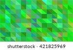 green triangle grid business... | Shutterstock .eps vector #421825969