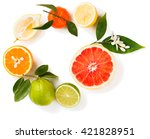 view from above of citrus... | Shutterstock . vector #421828951