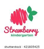 logo for kindergarten and... | Shutterstock .eps vector #421835425