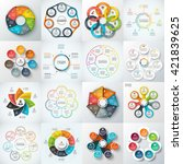 big set of vector heptagons ... | Shutterstock .eps vector #421839625