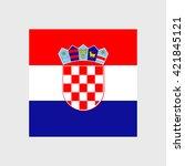 croatia national flag | Shutterstock .eps vector #421845121
