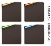 vector blank festive stickers | Shutterstock .eps vector #42184891