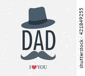happy father day. love dad... | Shutterstock .eps vector #421849255