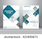 formal business brochure flyer... | Shutterstock .eps vector #421850671