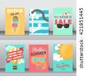 summer  holiday  vacation... | Shutterstock .eps vector #421851445