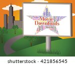movie downloads representing... | Shutterstock . vector #421856545