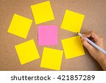 Six Blank Yellow Sticky Notes...
