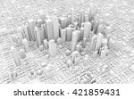 3d Downtown White Business...