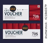 gift voucher premier color | Shutterstock .eps vector #421860379
