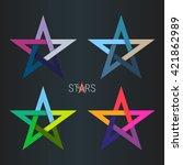 design star logo element.... | Shutterstock .eps vector #421862989