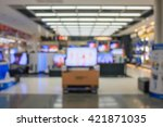 eletronic department store with ... | Shutterstock . vector #421871035