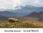 crimean mountains. the peak of... | Shutterstock . vector #421878025
