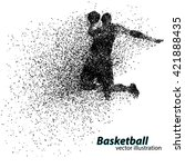 basketball player of particle.... | Shutterstock .eps vector #421888435