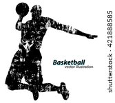 silhouette of a basketball... | Shutterstock .eps vector #421888585