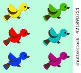 set of birds circles | Shutterstock .eps vector #421890721