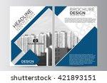 abstract flyer design... | Shutterstock .eps vector #421893151
