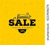 summer sale banner. vintage... | Shutterstock .eps vector #421904674
