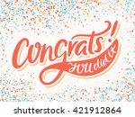 congratulations card. congrats  ... | Shutterstock .eps vector #421912864