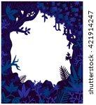 jungle plants and vegetation...   Shutterstock .eps vector #421914247