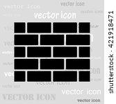 brick wall black vector icon | Shutterstock .eps vector #421918471