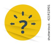 dark question mark arrows icon...   Shutterstock .eps vector #421923901